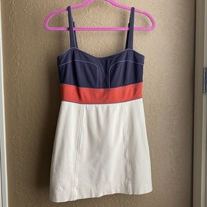 BCBGMaxAzria Tri-color Mini Dress